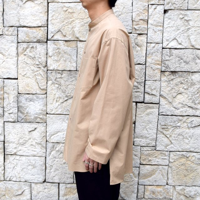 【30% off sale】【2020】blurhms(ブラームス) / Stand-up Collar Shirt L/S:LIGHT BEIGE  BHS-20SS019(3)