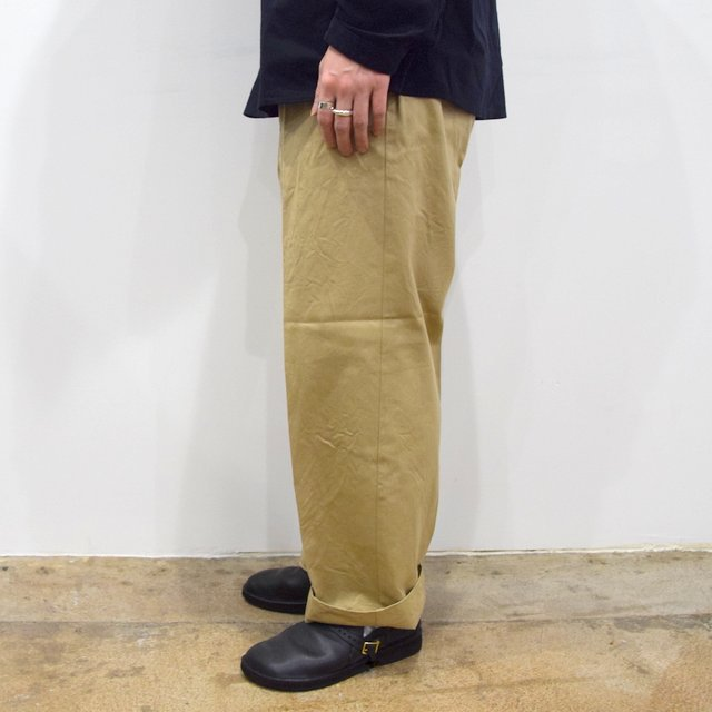 【2020】YAECA (ヤエカ)/ CHINO CLOTH PANTS CREASED -KHAKI- #10605(3)