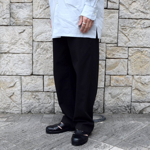 【2020】AURALEE(オーラリー)/ FINX HARD TWIST GABARDINE PANTS -BLACK- #A20SP02FB(3)