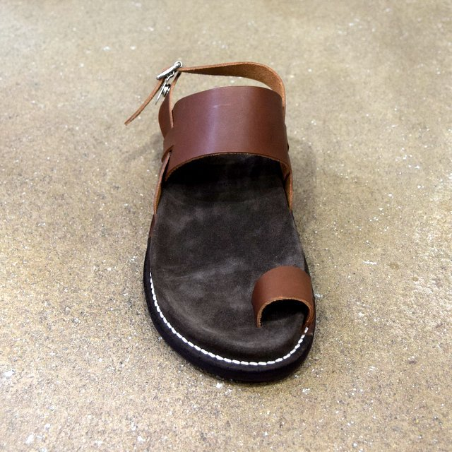 【2020 SS】KAPTAIN SUNSHINE × PHIGVEL / GURKHA FOOTBED SANDALS -BROWN- #KS20SGD06(3)