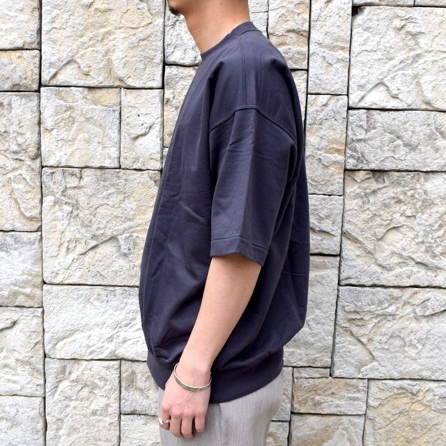 【2020】AURALEE(オーラリー)/ SUPER HIGH GAUGE SWEAT BIG TEE -INK BLACK- #A20SP02NU(3)