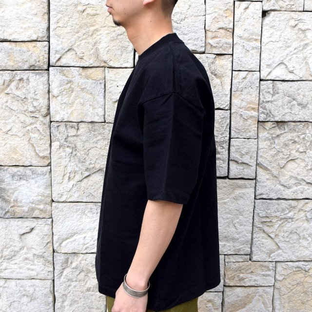 【2020 SS】AURALEE(オーラリー)/ STAND UP TEE -BLACK- #A20ST01SU(3)