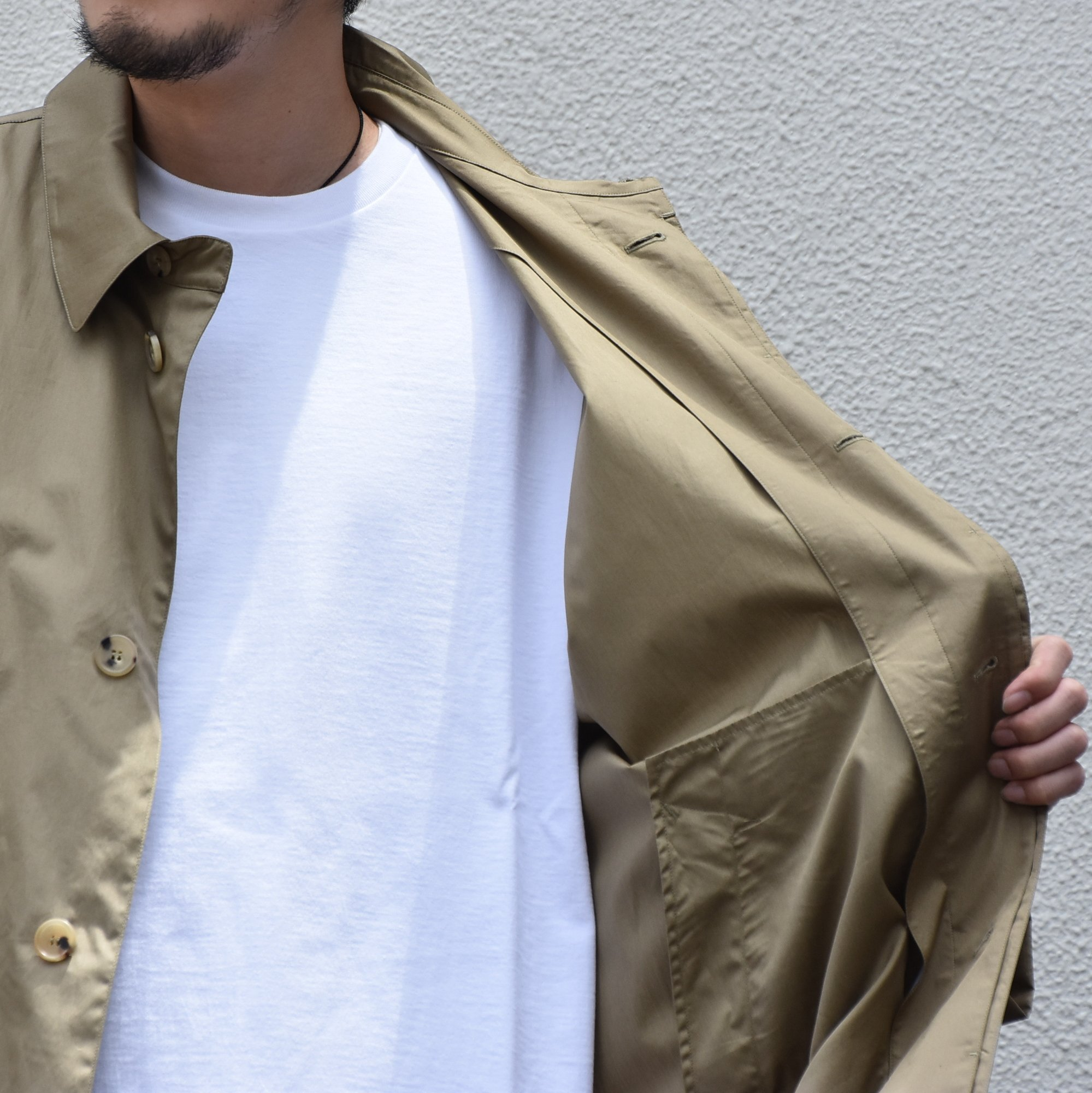【2020】 Cristaseya(クリスタセヤ)/ OVERSIZED LIGHT COTTON SUMMER TRENCH -Light khaki- #01DA-C-LK(3)