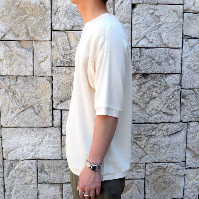 【2020 SS 】 MARKAWARE(マーカウェア)/ WAFFLE ONE SIDE RAGLAN S/S -RAW WHITE- #A20A-12CS01B(3)