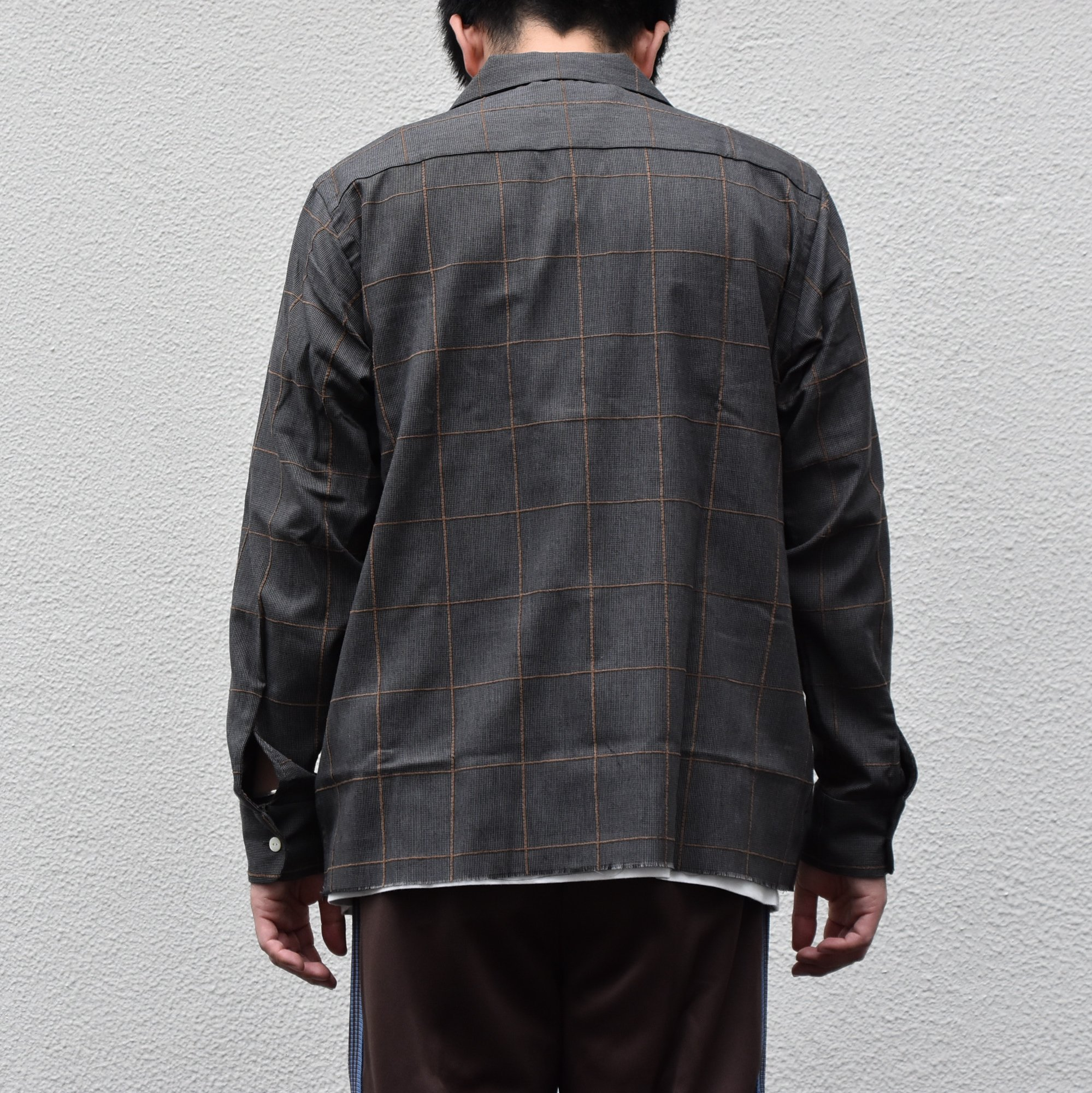 【2020】NEEDLES(ニードルス) C.O.B Classic Shirt -C/Pe/R Plaid Twill-GRAY #HM206(3)