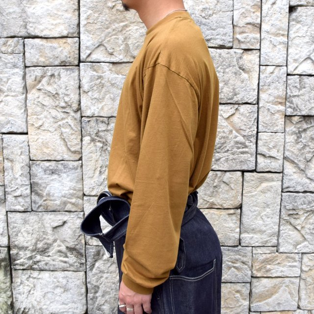 【2020】blurhms ROOTSTOCK(ブラームス) / SILK COTTON JERSEY L/S LOOSE FIT -CAMEL- #ROOTS-F206(3)