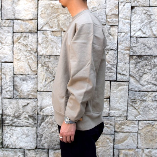 AURALEE(オーラリー) SUPER MILLED SWEAT P/O -KHAKI GRAY- A20AP02SM(3)