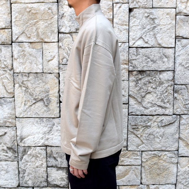 【2020】 AURALEE(オーラリー)/ ELASTIC HIGH GAUGE SWEAT HALF ZIP P/O -KHAKI GRAY- #A20AP01NU(3)