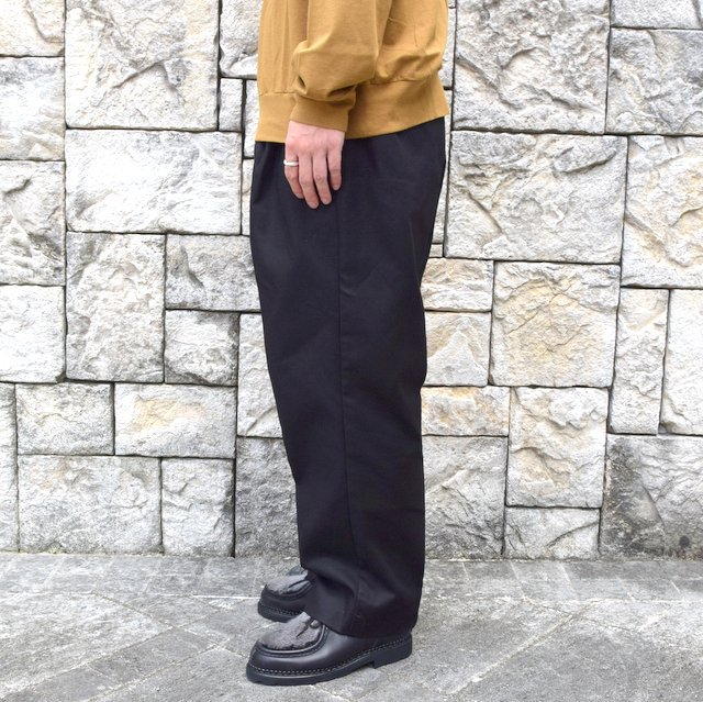 【2020】blurhms(ブラームス)/ SUPER SURGE WIDE SLACKS -BLACK- #BHS20F002(3)