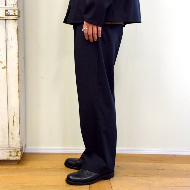 【2020】YOKE(ヨーク)/ FRONT TUCK BELTED WIDE TROUSERS -BLACK- #YK20AW0158P(3)