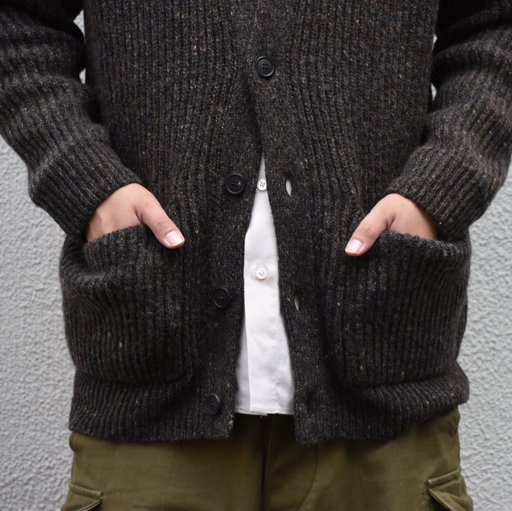 【2020】 Cristaseya(クリスタセヤ)/ CAMEL RIBBED CARDIGAN-BROWN- #22KA-CA-BB(3)