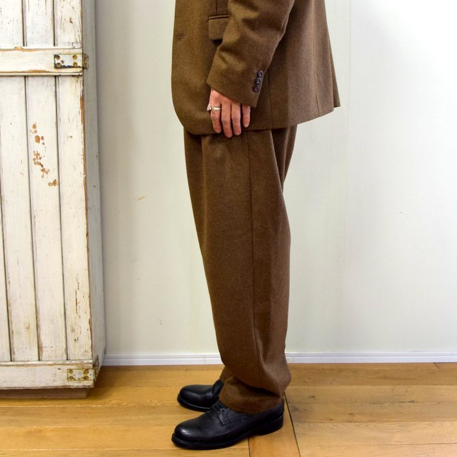 FRANK LEDER(フランクリーダー)/ LIGHT WEIGHT LODEN WOOL 2TUCK TROUSERS -BROWN- #0723028(3)
