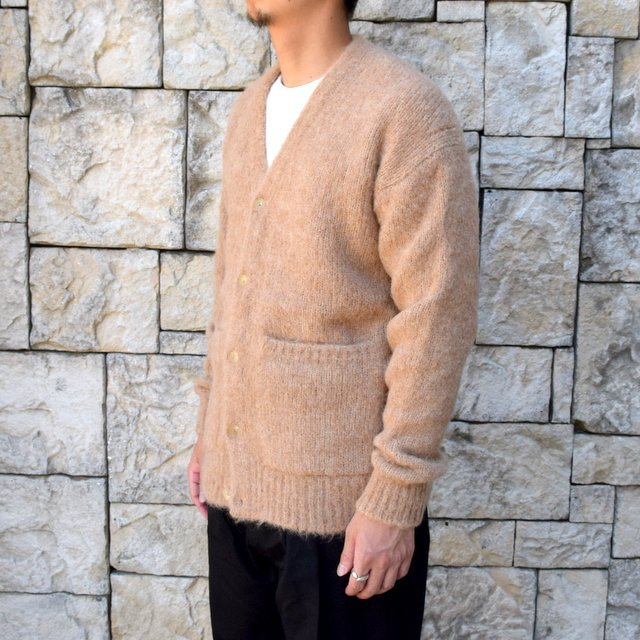 【2020】 AURALEE(オーラリー)/ ALPACA WOOL SUPER LIGHT KNIT BIG CARDIGAN -TOP BEIGE- #A20AC01AW(3)