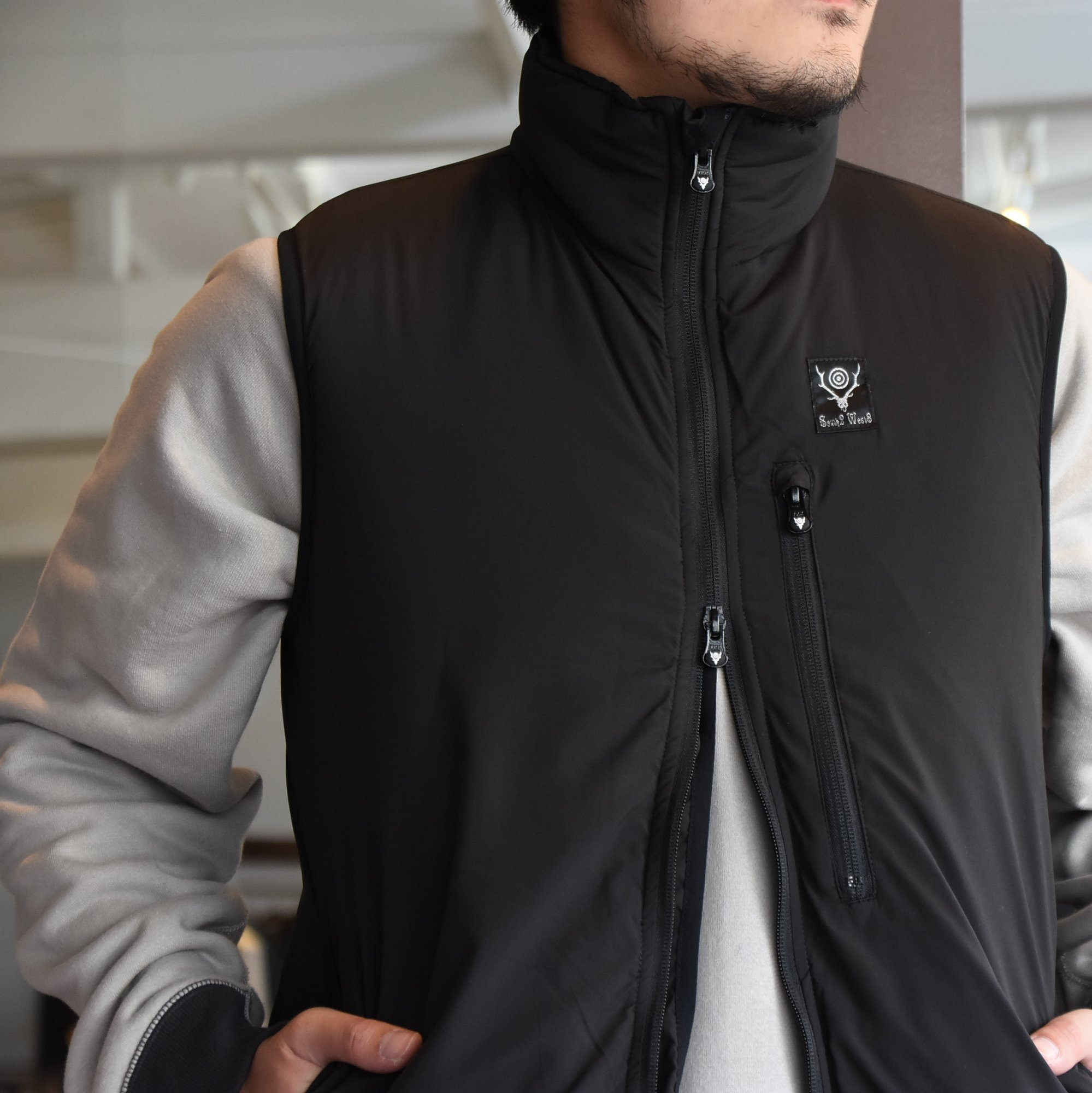 【2020】South2 West8(サウスツーウエストエイト)Insulator Vest-Peach Skin-BLACK- #HM813(3)