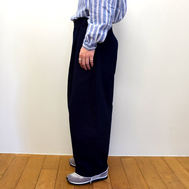 STUDIO NICHOLSON(スタジオニコルソン)/ PEACHED COTTON TWILL-DARK NAVY- #SNM-351(3)