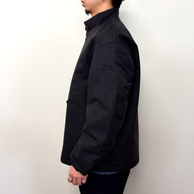 DESCENTE PAUSE(デサント ポーズ)/ WOOL MIX STAND COLLAR ZIP UP BLOUSON -GRBK- #DLMQJC33(3)