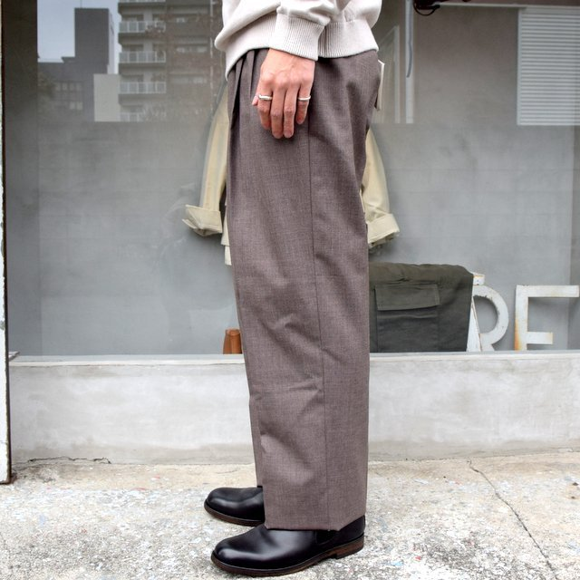 AURALEE(オーラリー)/ BLUEFACED WOOL WIDE SLACKS -TOP BROWN- #A20AP03BH(3)