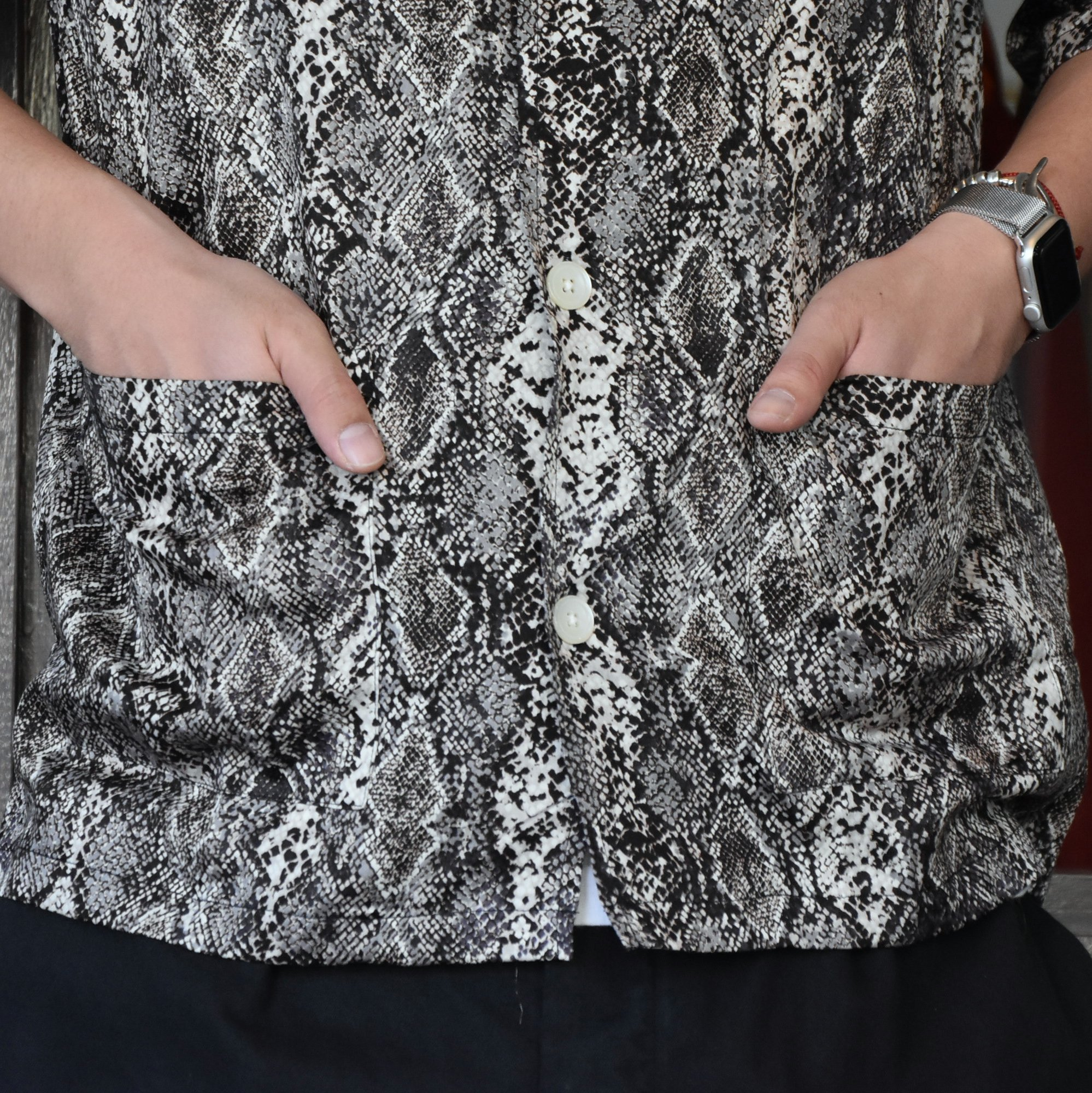 [2021]NEEDLES(ニードルス) CABANA SHIRT PYTHON PT -BLACK- #IN169(3)