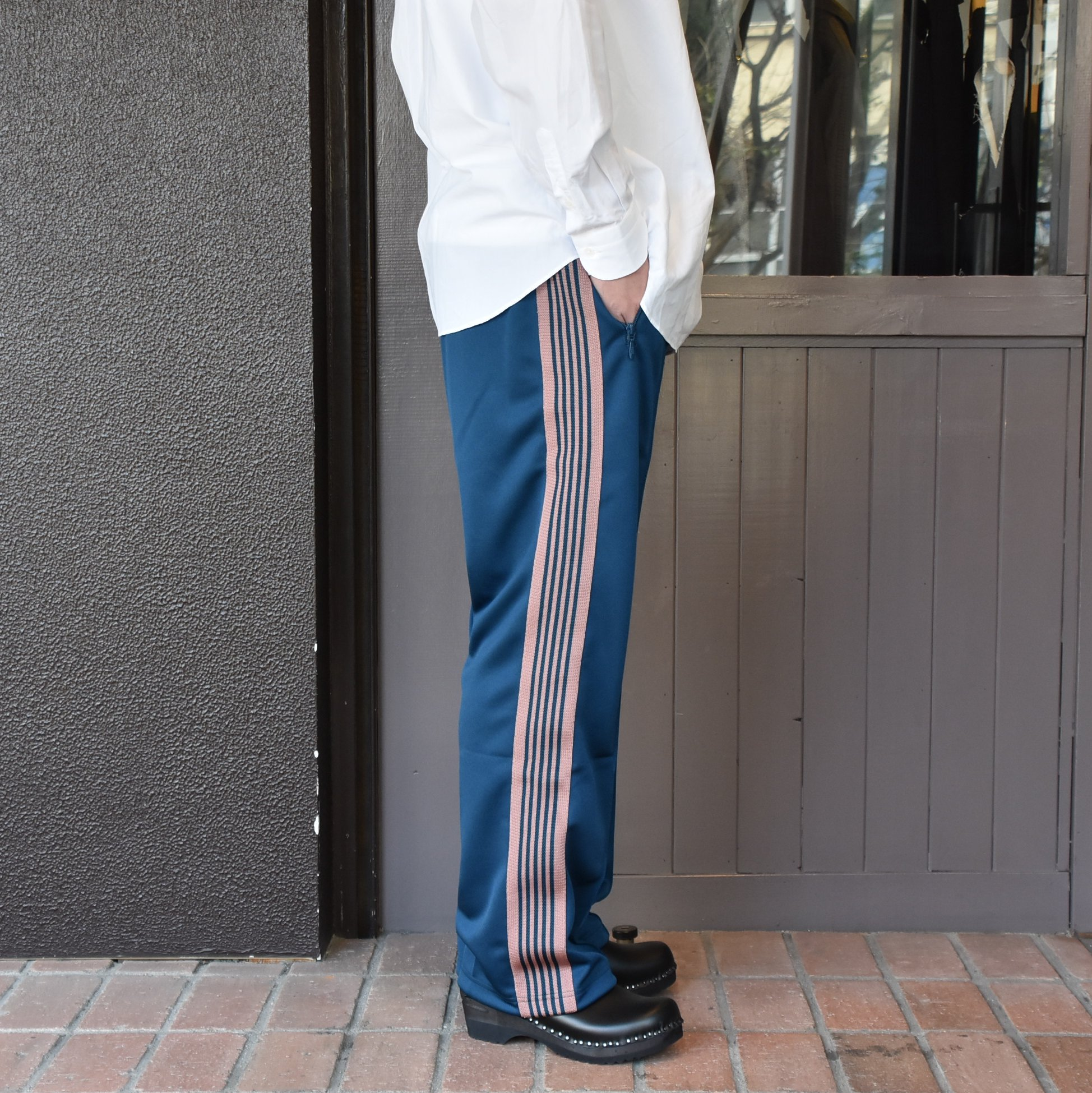 [2021]NEEDLES(ニードルス) TRACK PANT POLY SMOOTH -TEAL GREEN- #IN181(3)