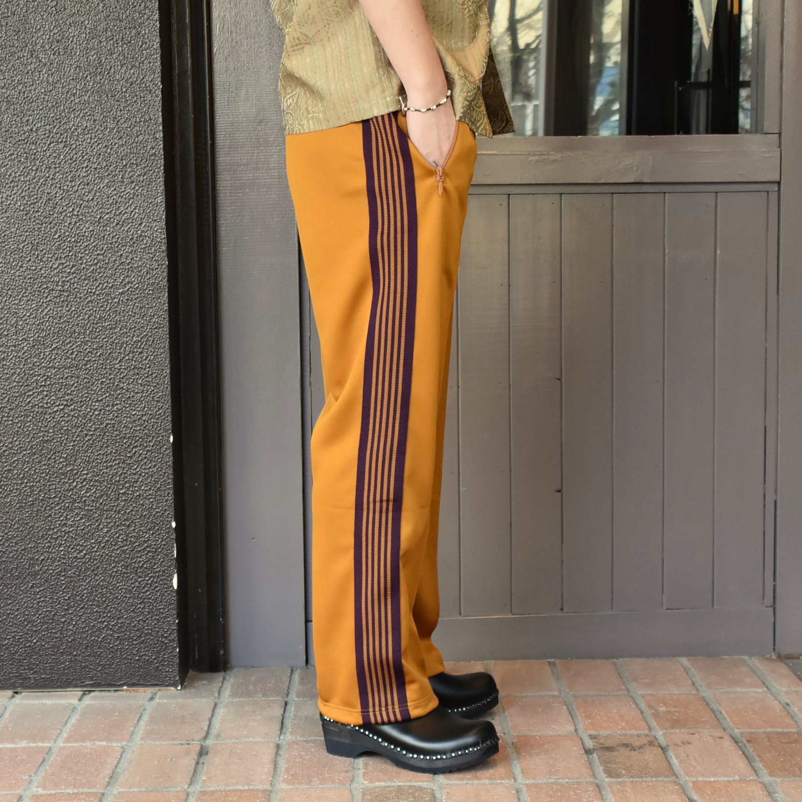 [2021]NEEDLES(ニードルス) TRACK PANT POLY SMOOTH -MUSTARD- #IN181(3)