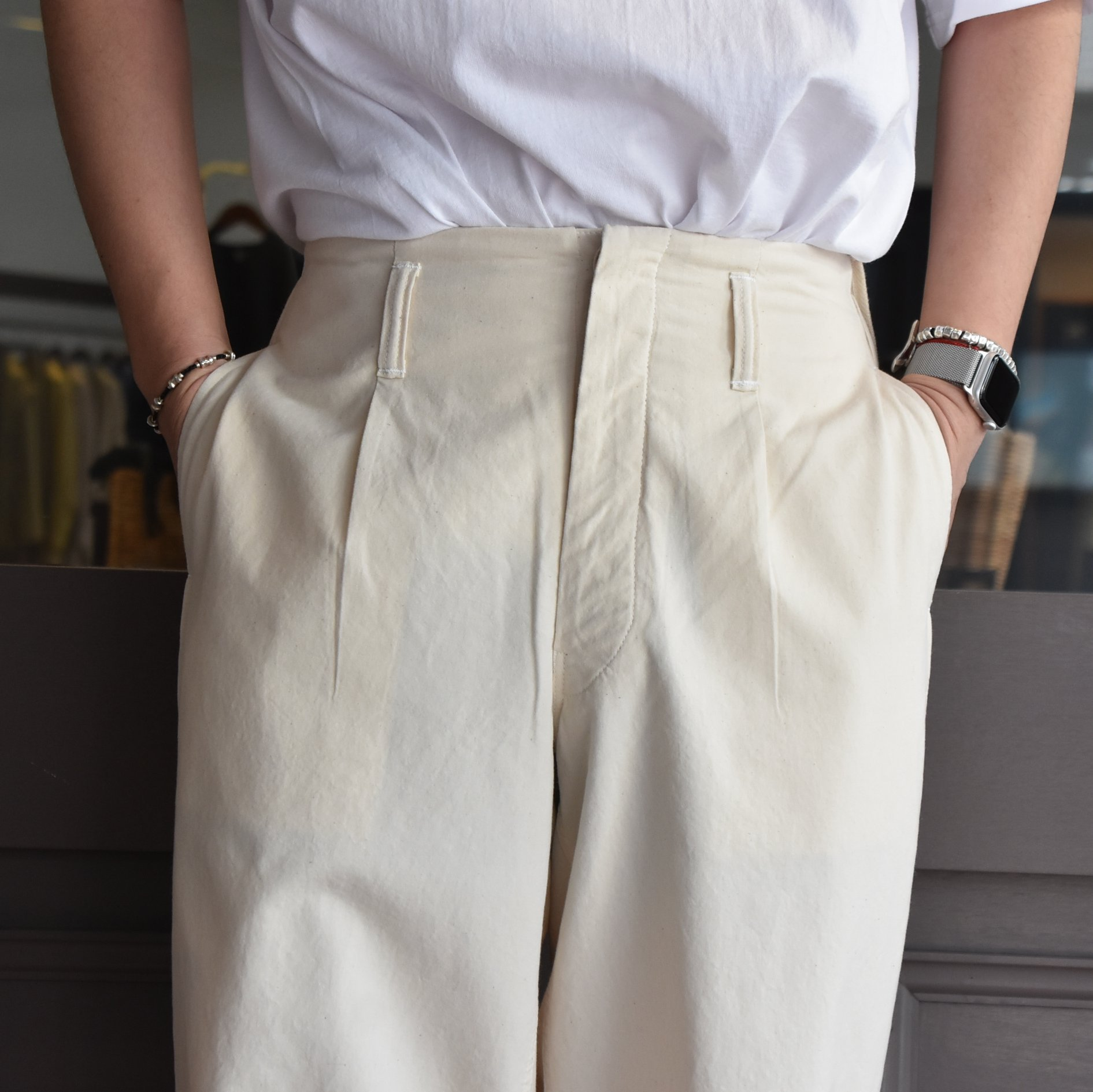 [2021]amachi.(アマチ) DetachablePocket Work Pants-Off White- #AY8-22(3)