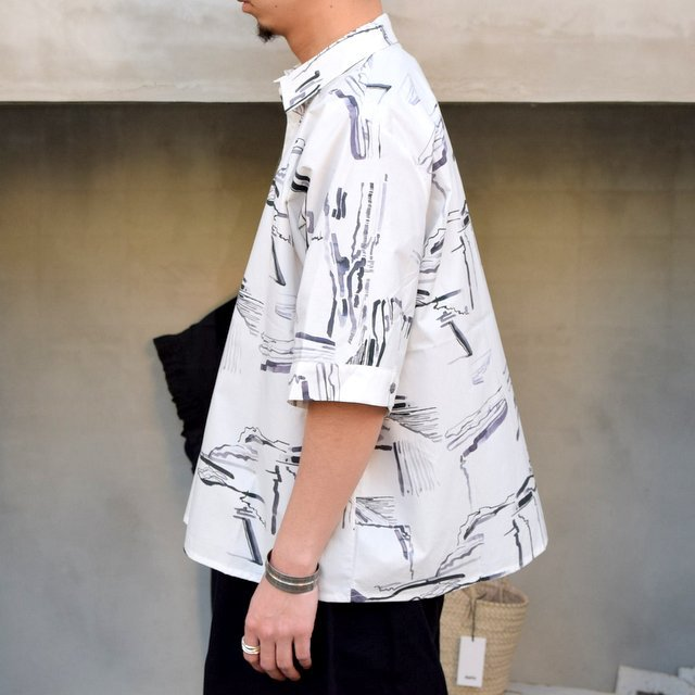 toogood(トゥーグッド)/ THE GARDENER SHIRT SHORT PRINTED POPLIN -PLOUGHED FIELDS-(3)