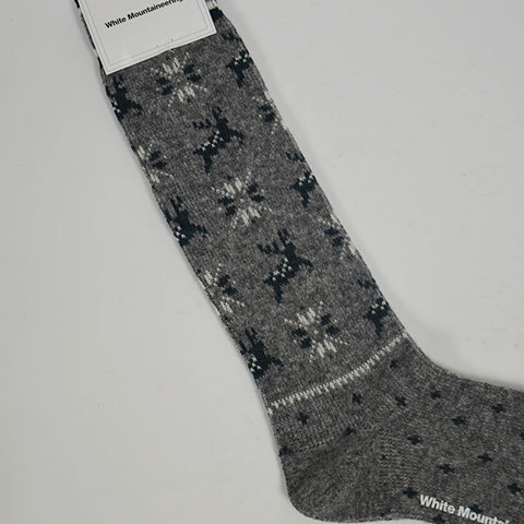 【30% off sale】White Mountaineering(ホワイトマウンテニアリング) Reindeer Pattern Middle Socks(4)