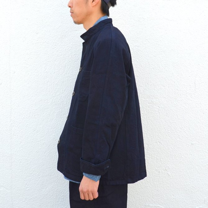 chimala(チマラ)/10OZ INDIGO X BLACK WEFT DENIM RAILROAD JACKET(UNISEX) -INDIGO- CS23-JT19(4)