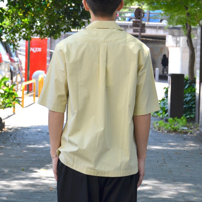 【40% OFF SALE】STUDIO NICHOLSON(スタジオニコルソン)/ OPEN COLLAR SHORT SLV SHIRT -KHAKI- #SN-280(4)