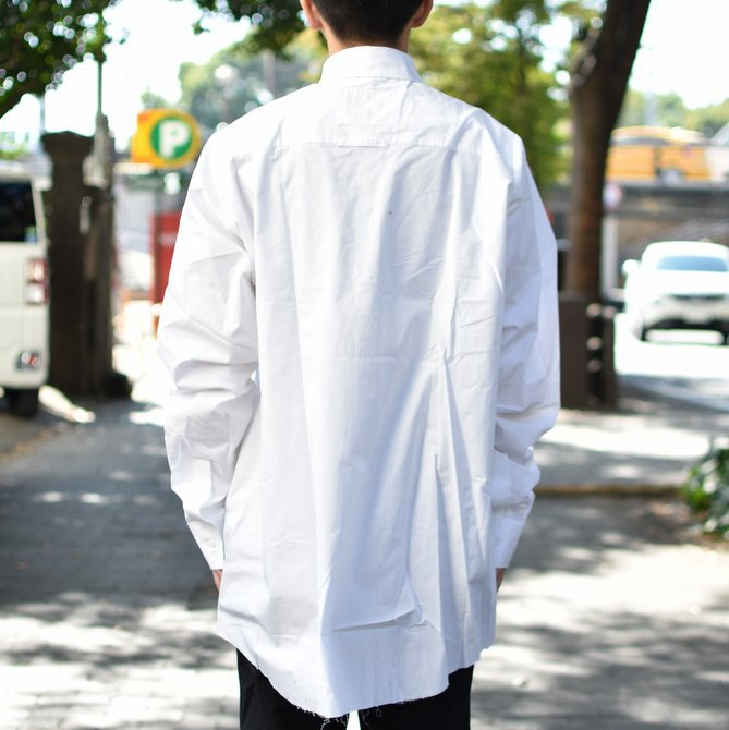 【2018 AW】 CAMIEL FORTGENS(カミエル フォートゲンス)/LONG SHIRT SHIRTING -WHITE- #CAMIEL-634(4)