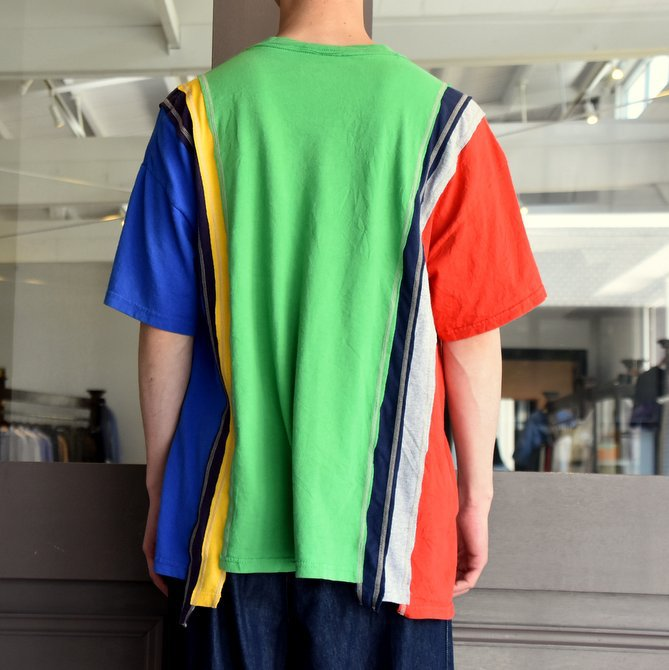 REBUILD BY NEEDLES  (リビルドバイニードルス) 7 cut wide tee-college- green EJ291(4)