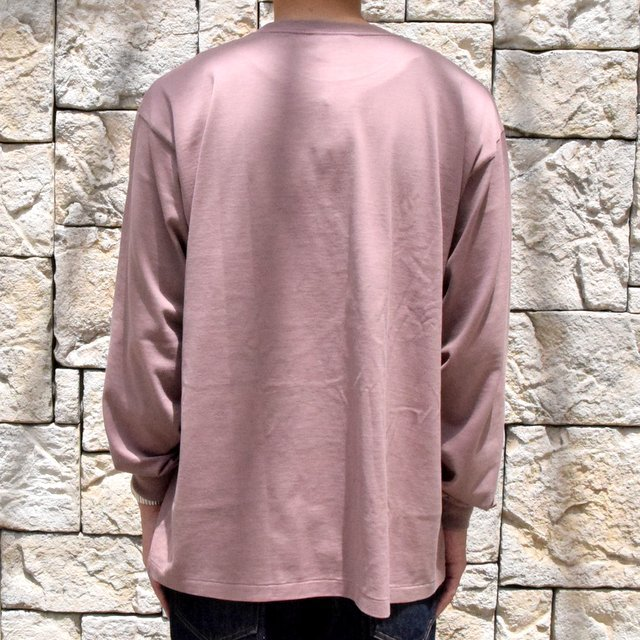 【2019 AW】 AURALEE(オーラリー)/ LUSTER PLAITING L/S TEE -LIGHT BROWN- #A9AP01GT(4)