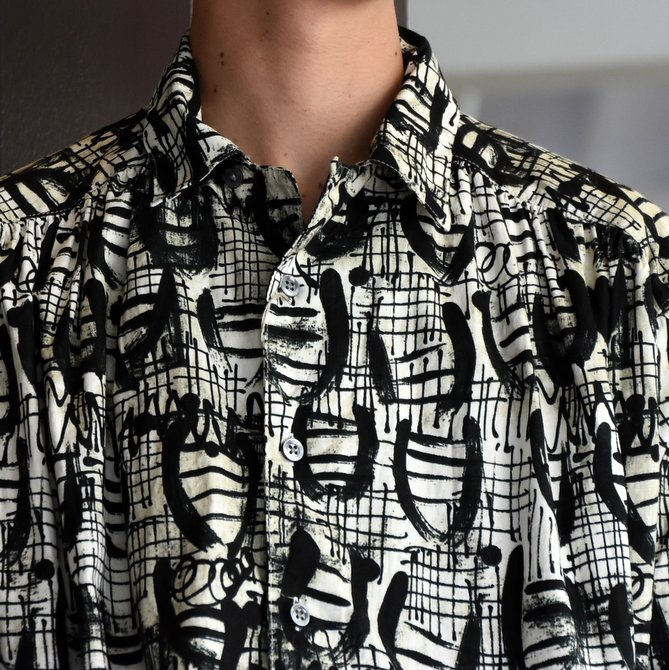 【2019 AW】AiE(エーアイイー) PAINTER SHIRT-ABSTRACT PRINT- FK469(4)