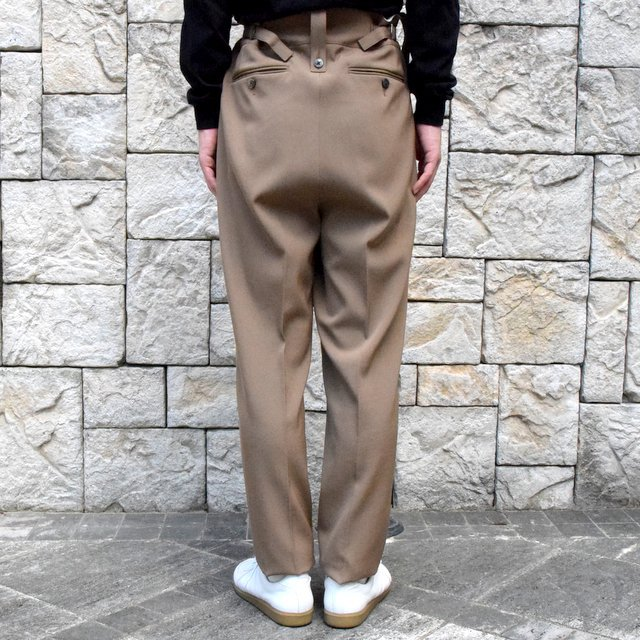 【2019 AW】NEAT(ニート)/ WOOL HIGHT DENSITY GABARDINE BELTLESS -CAMEL-#19-02WGB(4)