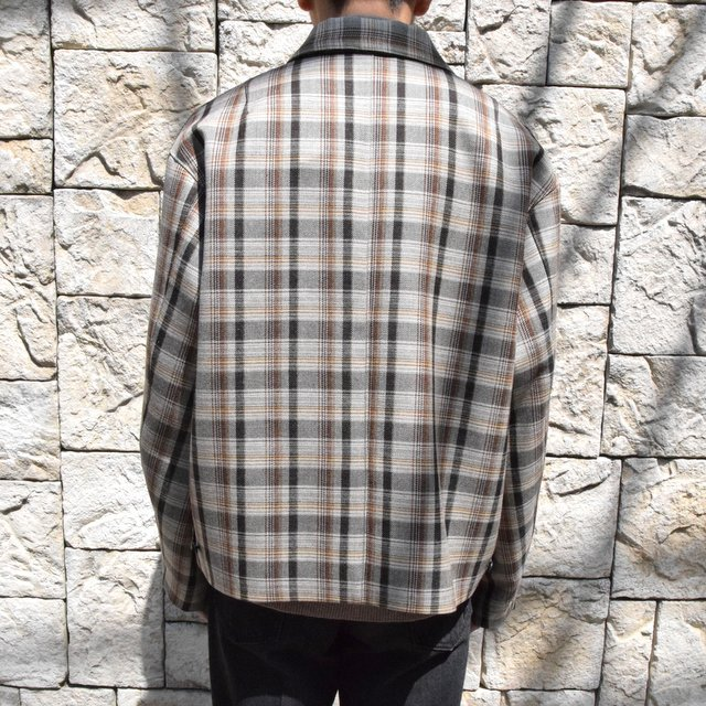 【30% off sale】【19 AW】 AURALEE(オーラリー)/DOUBLE FACE CHECK ZIP BLOUSON -BROWN CHECK-#A9AB02BN-BR(4)