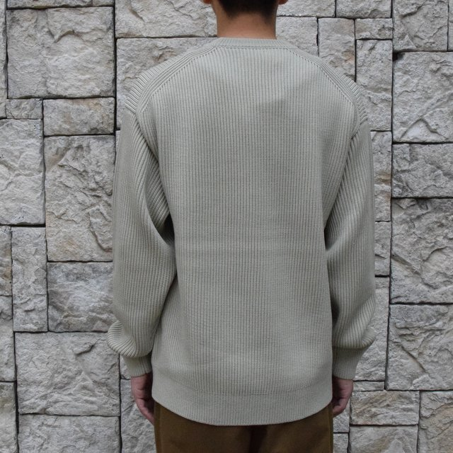 【30%OFF SALE】【2019 AW】 AURALEE(オーラリー)/SUPER FINE WOOL RIB KNIT BIG P/O -PALE GREEN- #A9AP01RK(4)