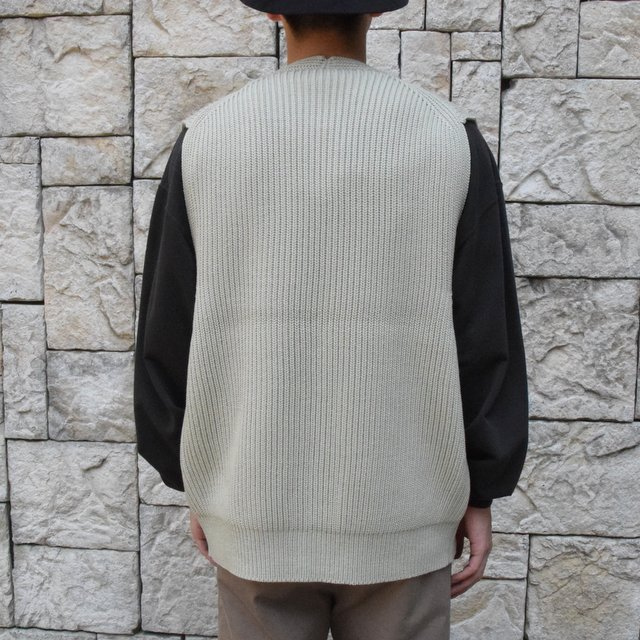 【30% OFF SALE】【2019AW】 AURALEE(オーラリー)/SUPER FINE WOOL RIB KNIT ZIP VEST #A9AV03RK-GRN(4)