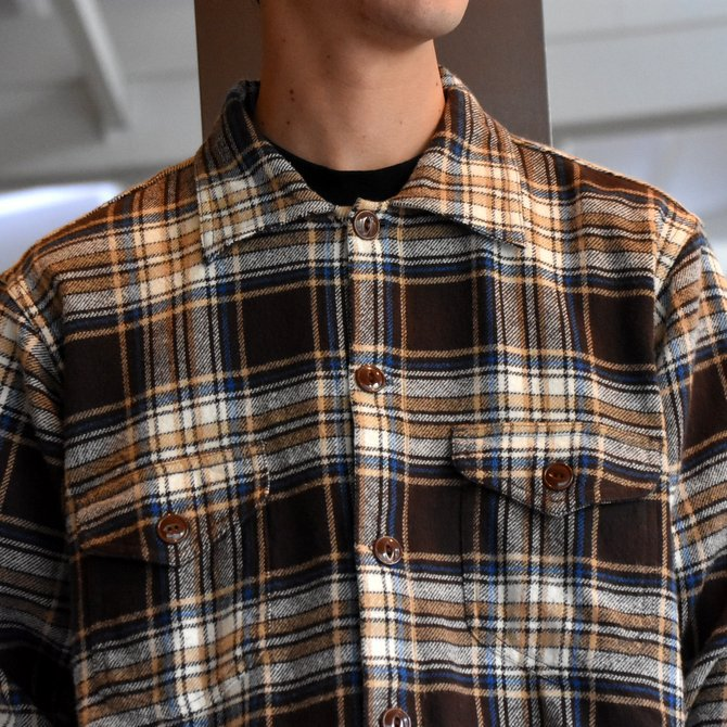 South2 West8(サウスツーウエストエイト) SMOKEY SHIRT-TWILL/PLAID #FK841(4)
