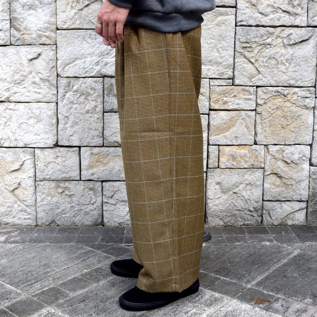 【30% OFF】is-ness(イズネス)/ COJ NU WIDE EZ PANTS -BROWN BLUE-  #30AWPT05-BR(4)