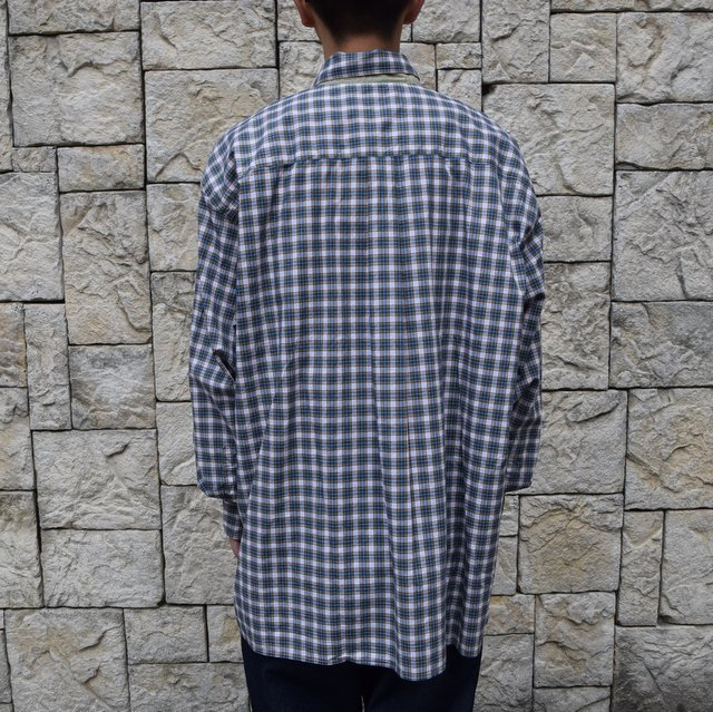Marvine Pontiak Shirt Makers(マーヴィンポンティアックシャツメーカーズ)/TWO TONE L/S Shirt -GREEN CHECK- #MPSM-1913S(4)
