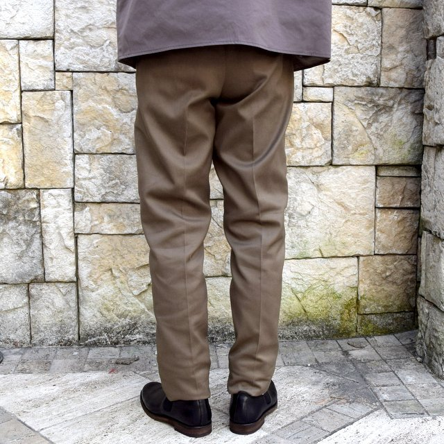 【2020 SS】NEAT(ニート)/ COTTON PIQUE ''TAPERED'' -KHAKI- #20-01CPT(4)