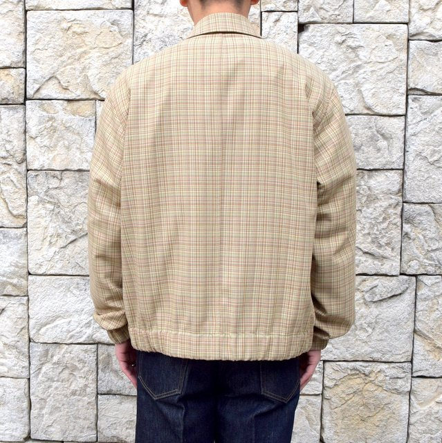 【2020 SS】 AURALEE(オーラリー)/ HARD TWIST WOOL DOUBLE FACE CHECK BLOUZON -BEIGE CHECK- #A20SB01WC(4)