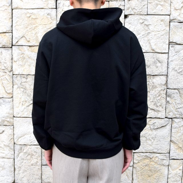【2020 SS】AURALEE(オーラリー)/ SUPER SOFT SWEAT BIG P/O PARKA -BLACK- #A20SP01GU(4)