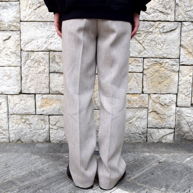【2020 SS】AURALEE(オーラリー)/ COTTON WOOL DOUBLE CLOTH SLACKS -TOP GRAY- #A20SP02WF(4)