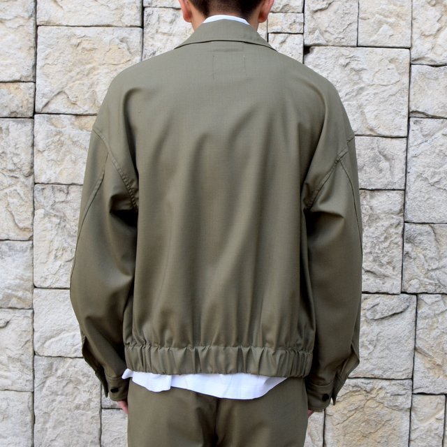 【2020 SS 】MARKAWARE(マーカウェア)/FLIGHT JACKET ORGANIC WOOL TROPICAL -OLIVE KHAKI- #A20A-04BL01C(4)