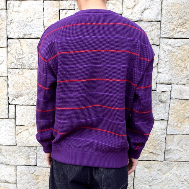 【2020 SS】crepuscule(クレプスキュール)/BORDER LONG SLEEVE TEE -PURPLE- #2001-001-PU(4)