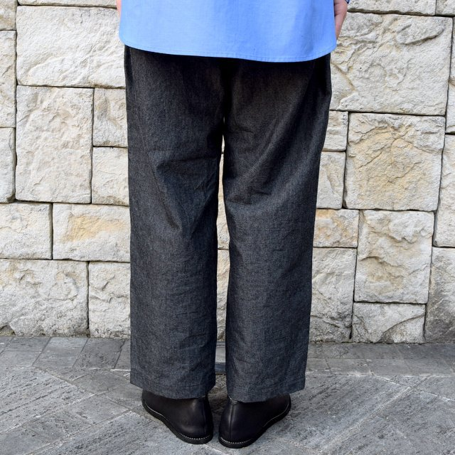【30% off sale】【2020 SS】un unbient / COTTON WOOL ONE TUCK PANTS -CHARCOAL-#UNSP4620(4)