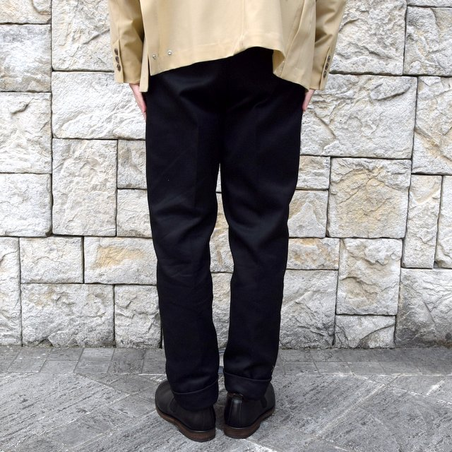 【2020 SS】NEAT(ニート)/ COTTON PIQUE ''TAPERED'' -BLACK- #20-01CPT(4)