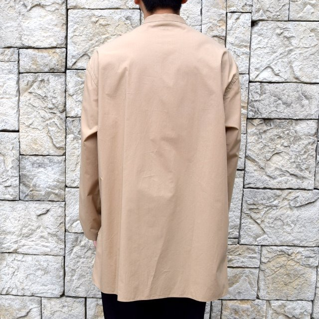 【30% off sale】【2020】blurhms(ブラームス) / Stand-up Collar Shirt L/S:LIGHT BEIGE  BHS-20SS019(4)