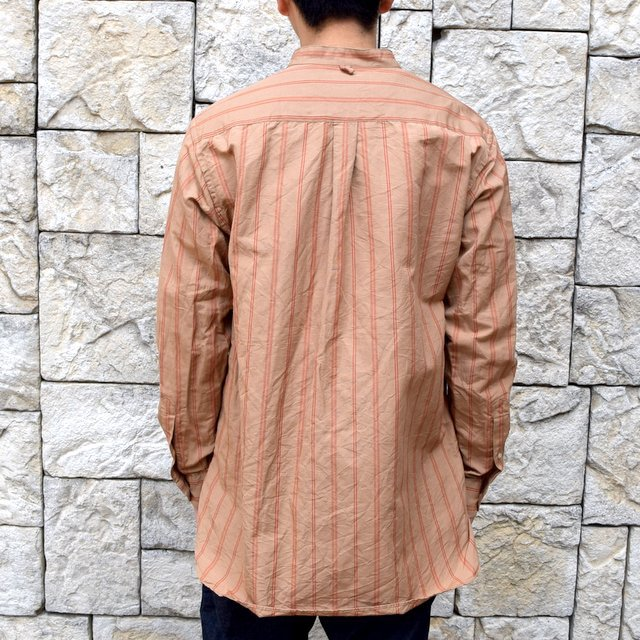 【2020】 A VONTADE(ア ボンタージ)/ BANDED COLLAR SHIRTS -BROWN STRIPE- #VTD-0312-SH(4)